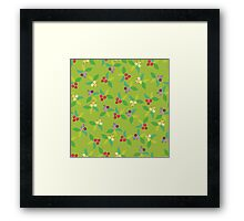 Background berry green Framed Print