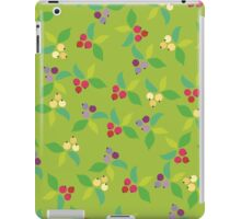 Background berry green iPad Case/Skin