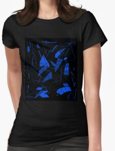 Blue abstraction Womens Fitted T-Shirt