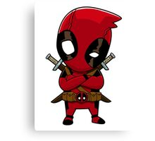 Little Deadpool Canvas Print