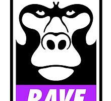 Rave Monkey  by tshirtbaba