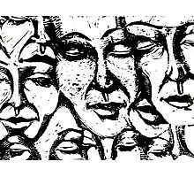 merging faces Photographic Print