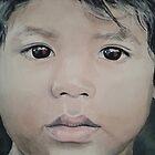 Enfant en Inde  by Aline Gason