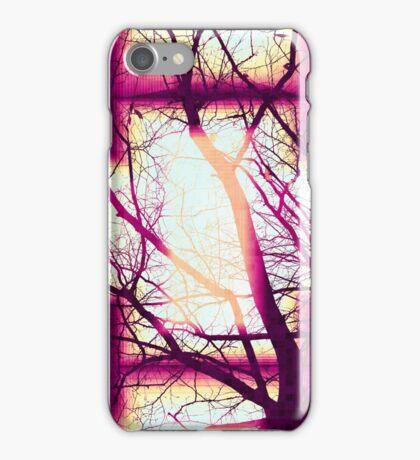 Harmonious Colors - Fuschia Sky Blue And Cream iPhone Case/Skin