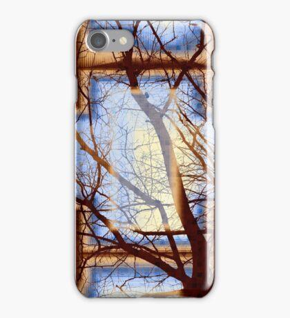 Harmonious Colors - Blue White Brown iPhone Case/Skin