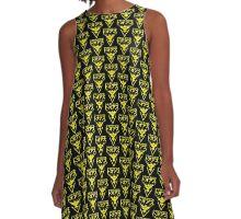 TEAM INSTINCT LOGO STREET - POKEMON GO- GRAPHIC A-LINE DRESS - YELLOW A-Line Dress
