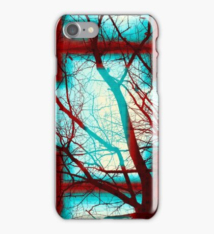 Harmonious Colors - Red White Turquoise iPhone Case/Skin