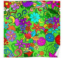 Flowers pattern. Poster