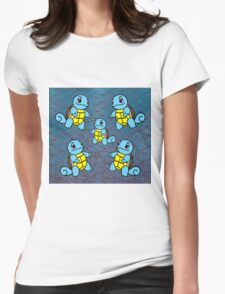 Squirtle Mirror Pattern Womens Fitted T-Shirt