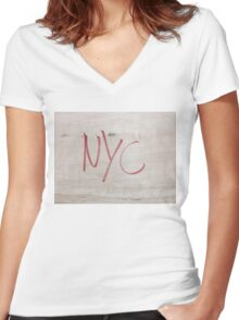 NYC New York City Women's Fitted V-Neck T-Shirt