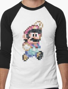 Mario World Jump Vintage Pixels Men's Baseball ¾ T-Shirt
