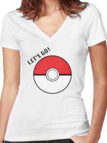 Pokemon Go! Women's Fitted V-Neck T-Shirt