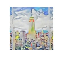 Empire State Building New York City Abstract Scarf