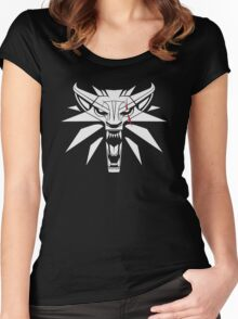 The White Wolf - The Witcher t-shirt / Phone case / Mug 2 Women's Fitted Scoop T-Shirt
