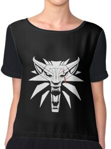 The White Wolf - The Witcher t-shirt / Phone case / Mug 2 Chiffon Top
