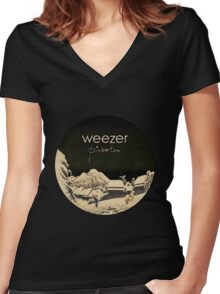 Pinkerton Weezer Women's Fitted V-Neck T-Shirt