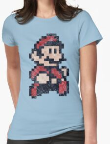 Super Mario Bros 3 Vintage Pixels Womens Fitted T-Shirt