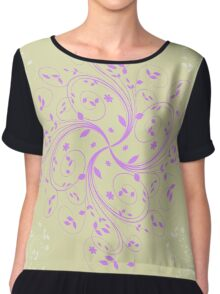 Abstract retro floral background  Chiffon Top