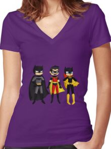 3Superheroes Women's Fitted V-Neck T-Shirt