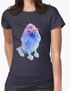 Blue Poodlie Boo  Womens Fitted T-Shirt