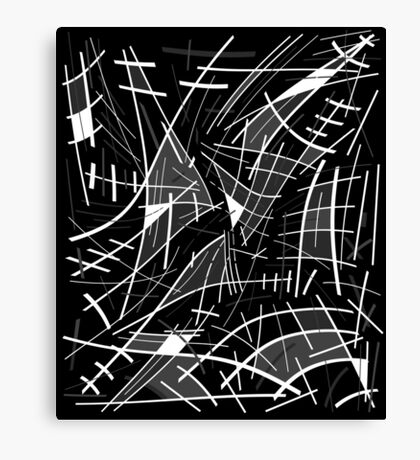 Gray abstraction Canvas Print