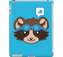 Swimming Racoon Chibi - head only iPad Case/Skin
