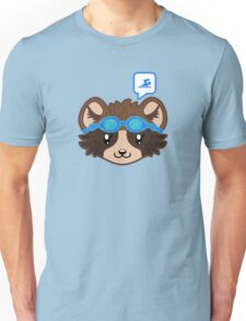 Swimming Racoon Chibi - head only Unisex T-Shirt