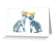Britannia Elite - Blue | Britannia Petite Show Rabbit Bunny Fancy Rare Cute Royalty Crown King Queen Greeting Card