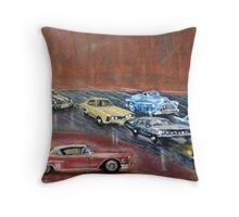 USA  CARS Throw Pillow