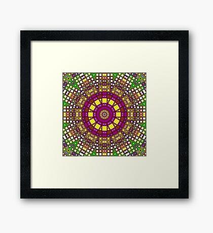 Mosaic Kaleidoscope 3 Framed Print