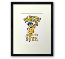 youngster wants to battle Framed Print