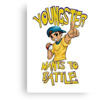 youngster wants to battle Canvas Print