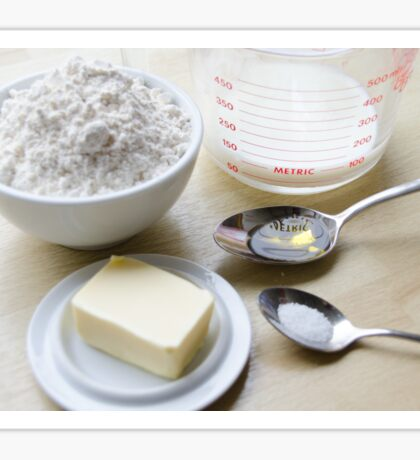 Flatbread Pita Ingredients Sticker