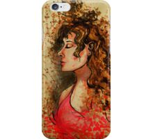 splattered woman iPhone Case/Skin