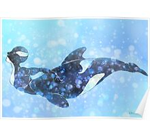 Orca Mermaid Poster