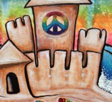 Hippie Sand Castle Sticker