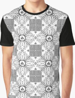 Seamless Leaves Pattern Graphic T-Shirt