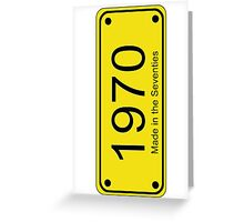 70s License Plate iPhone Cover ~ 1970 ~ Born in the Seventies Case Greeting Card