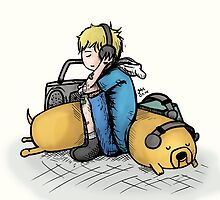 Headphones (with Finn and Jake) by godlessmachine