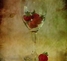 Strawberry Still Life by Sandra Cockayne