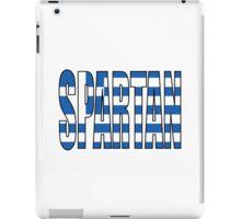 Greek Flag Spartan iPad Case/Skin