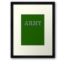 Army, Soldier, War, Infantry, Conflict, Warrior, Grunt, fighter, fighting force Framed Print
