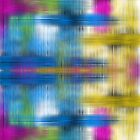 Neon Watercolor Wash Abstract  by Shellibean1162