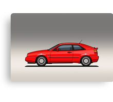 VW Corrado G60 Red Canvas Print