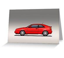 VW Corrado G60 Red Greeting Card