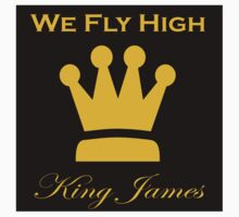 "Limited Edition ""We Fly High"" King James T-Shirt! (New Alternate Jersey Colors) Kids Tee"