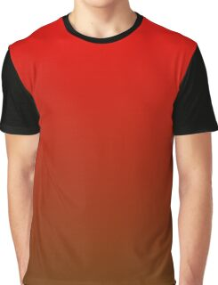 Red To Brown Gradient Graphic T-Shirt