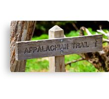 Appalachian Trail sign Canvas Print