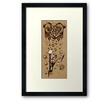 Singing in the Burger Rain Drawing Framed Print