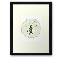 Green Insect Design Framed Print